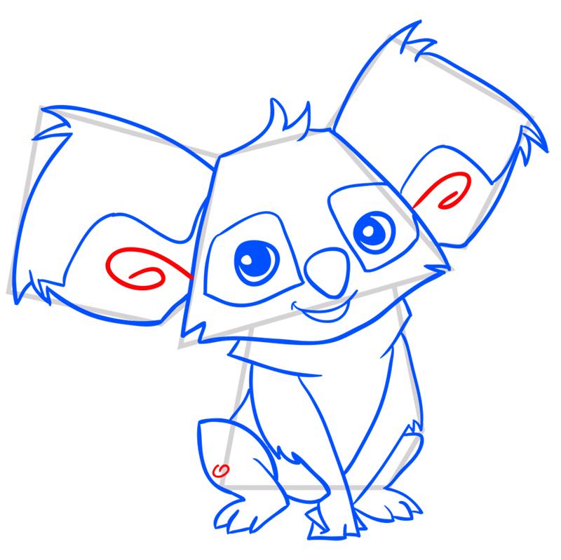 Learn easy to draw Koala step 12