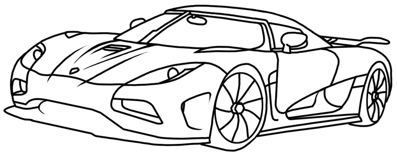 Learn easy to draw Koenigsegg Agera R step 00