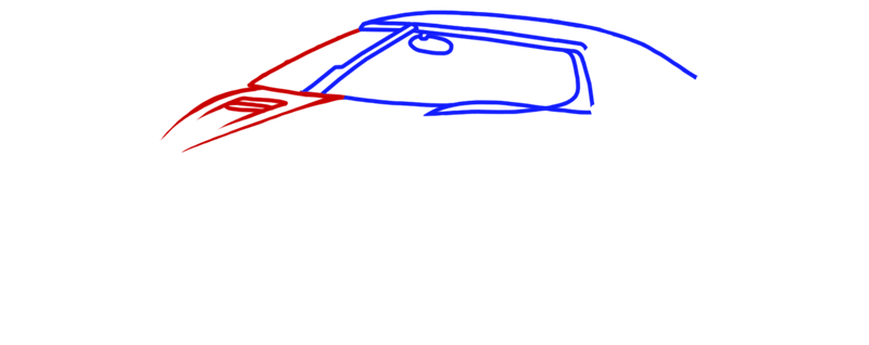 Learn easy to draw Koenigsegg Agera R step 03
