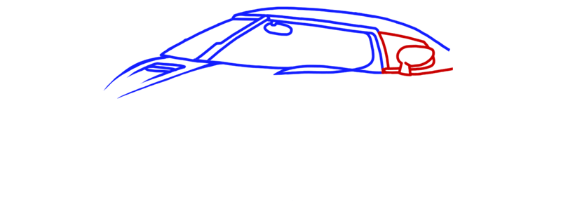 Learn easy to draw Koenigsegg Agera R step 04