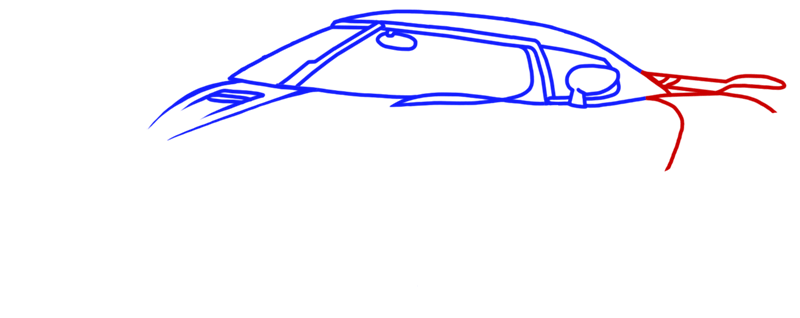 Learn easy to draw Koenigsegg Agera R step 05