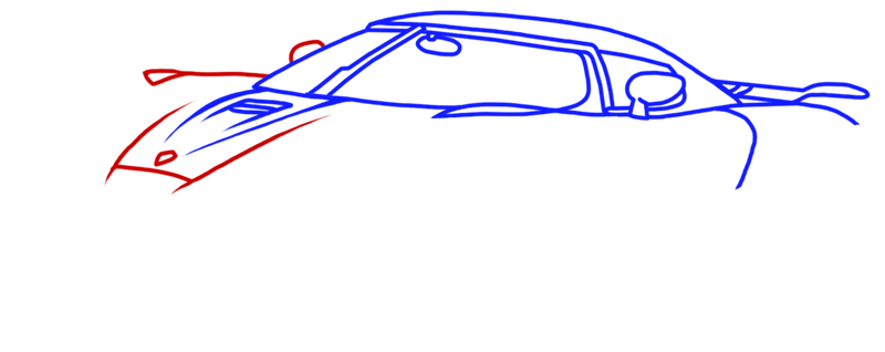 Learn easy to draw Koenigsegg Agera R step 06
