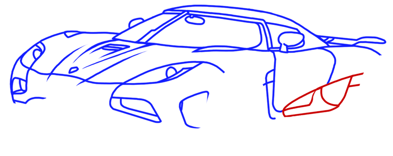 Learn easy to draw Koenigsegg Agera R step 10