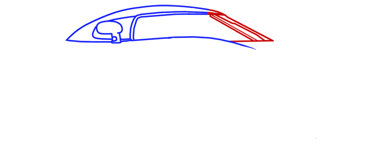Learn easy to draw Koenigsegg CC8S step 04
