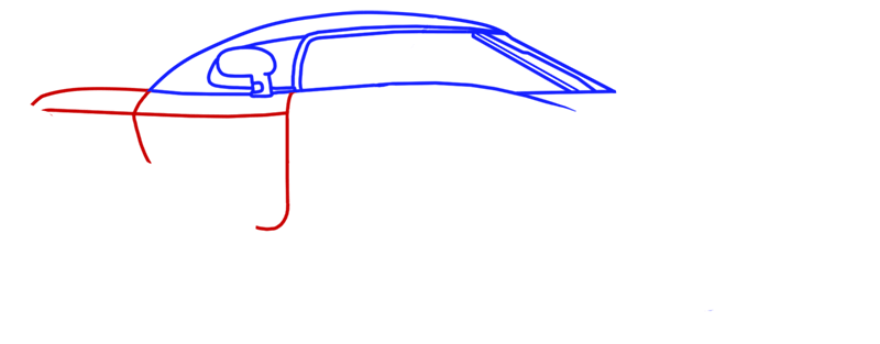 Learn easy to draw Koenigsegg CC8S step 05