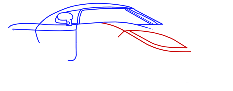 Learn easy to draw Koenigsegg CC8S step 06