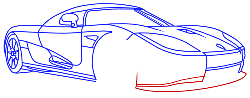 Learn easy to draw Koenigsegg CC8S step 15
