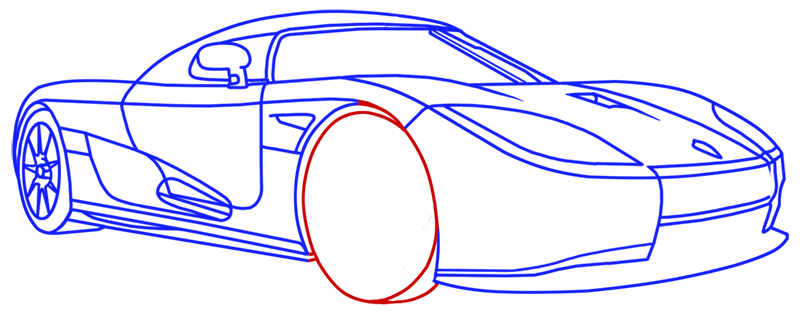 Learn easy to draw Koenigsegg CC8S step 16