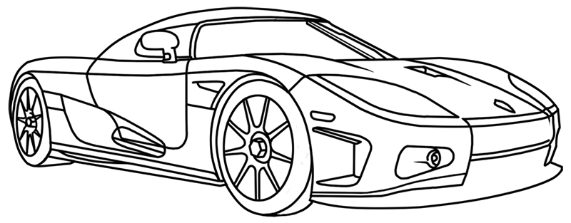 Learn easy to draw Koenigsegg CC8S step 20