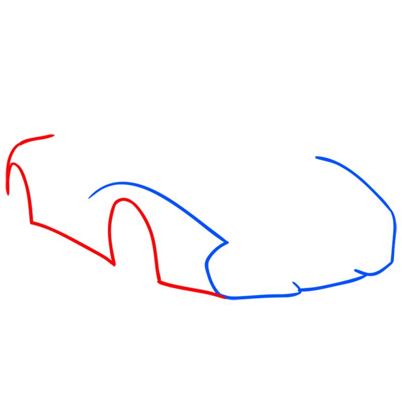 Learn easy to draw Lamborghini 5 95 Zagato step 02