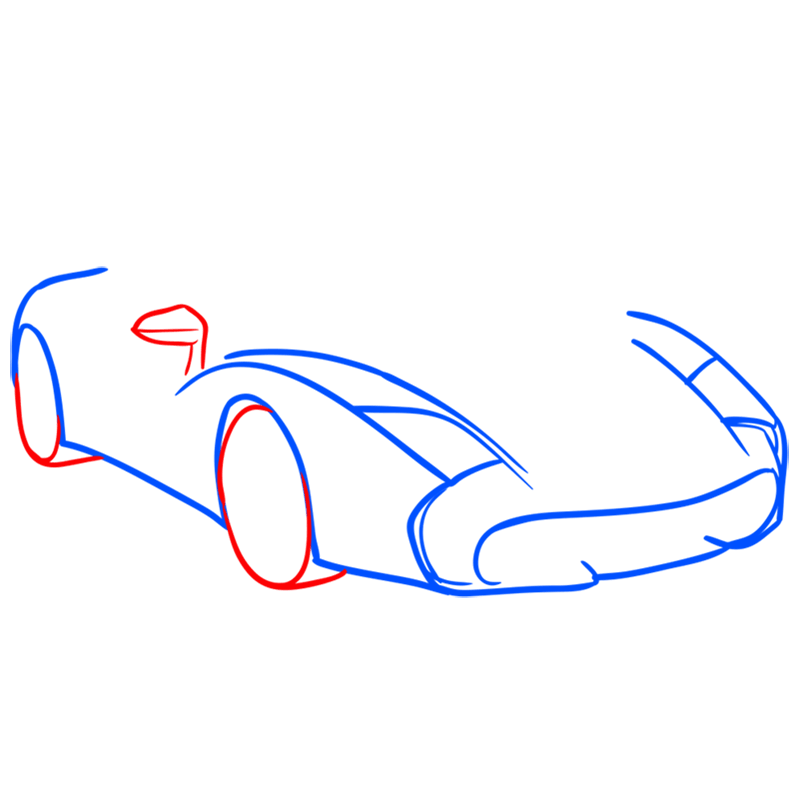 Learn easy to draw Lamborghini 5 95 Zagato step 04