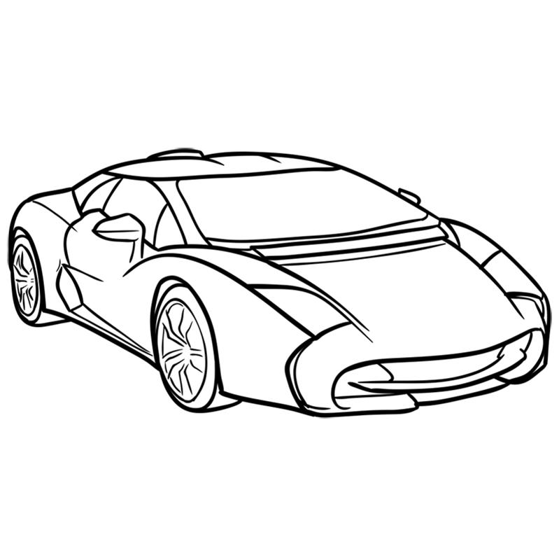 Learn easy to draw Lamborghini 5 95 Zagato step 09