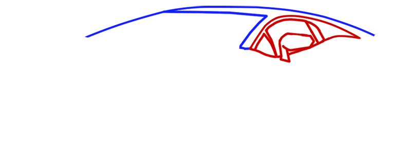 Learn easy to draw Lamborghini Aventador step 02