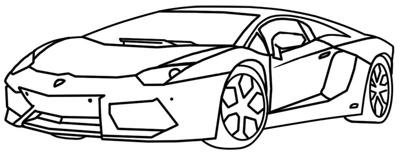 Learn easy to draw Lamborghini Aventador step 14