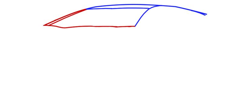 Learn easy to draw Lamborghini Diablo step 02