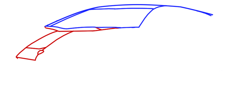 Learn easy to draw Lamborghini Diablo step 03
