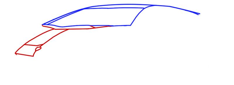 Learn easy to draw Lamborghini Diablo step 03