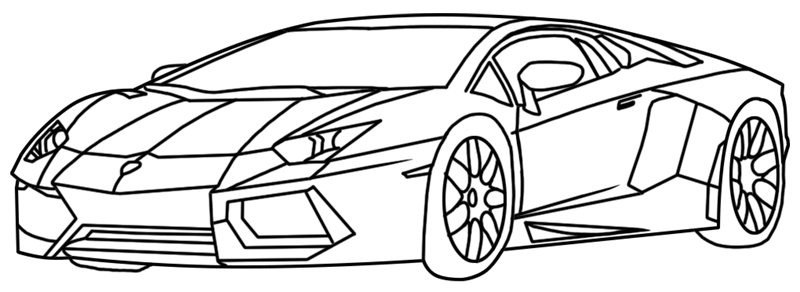 Learn easy to draw Lamborghini Diablo step 17