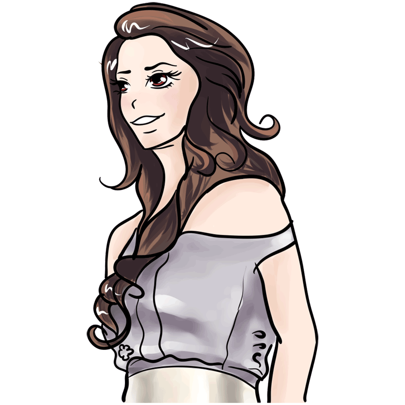 Learn easy to draw Lana Del Rei step 11