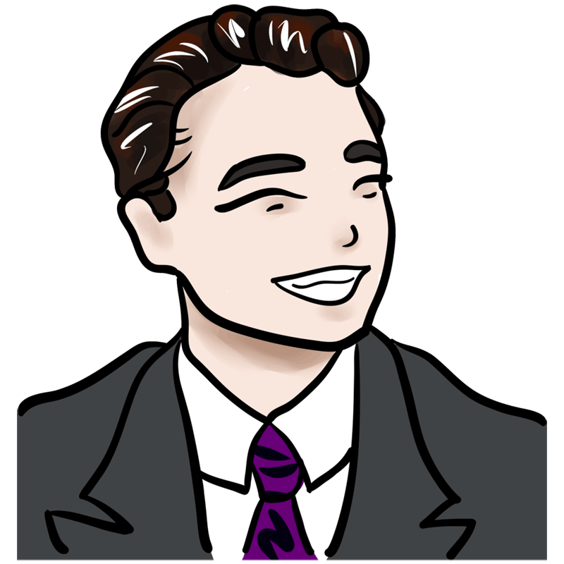 Learn easy to draw Leonardo DiCaprio step 00
