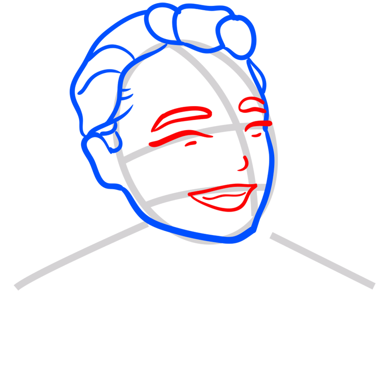Learn easy to draw Leonardo DiCaprio step 05