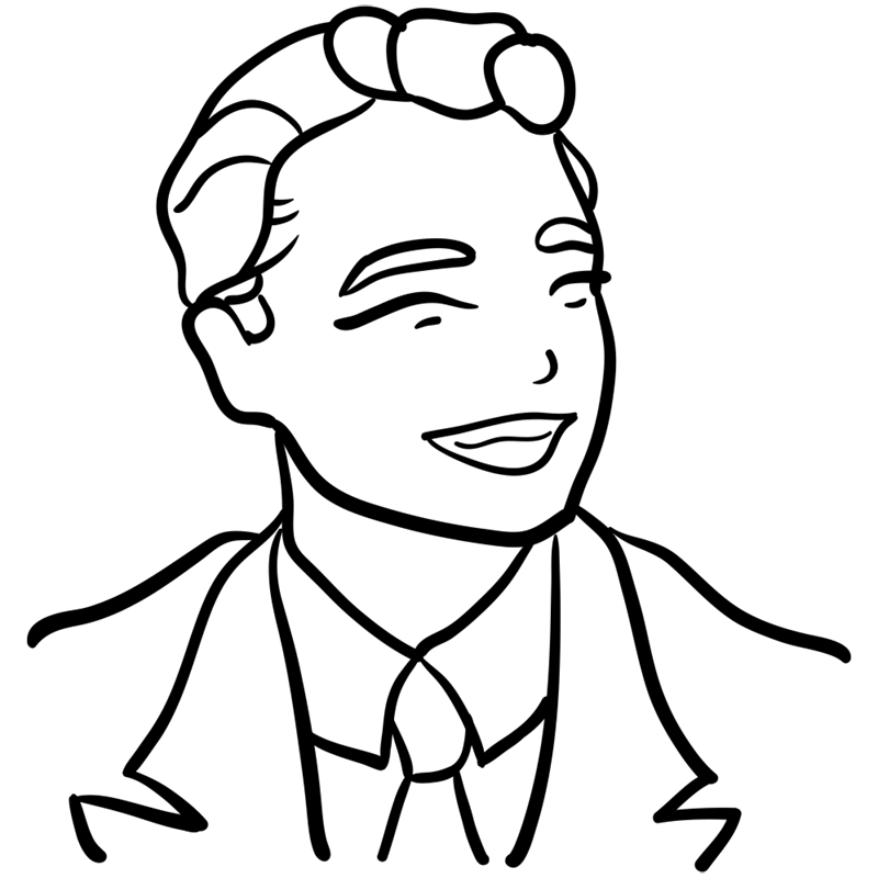 Learn easy to draw Leonardo DiCaprio step 09
