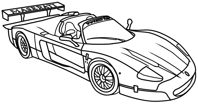 Learn easy to draw Maserati MC12 step 00