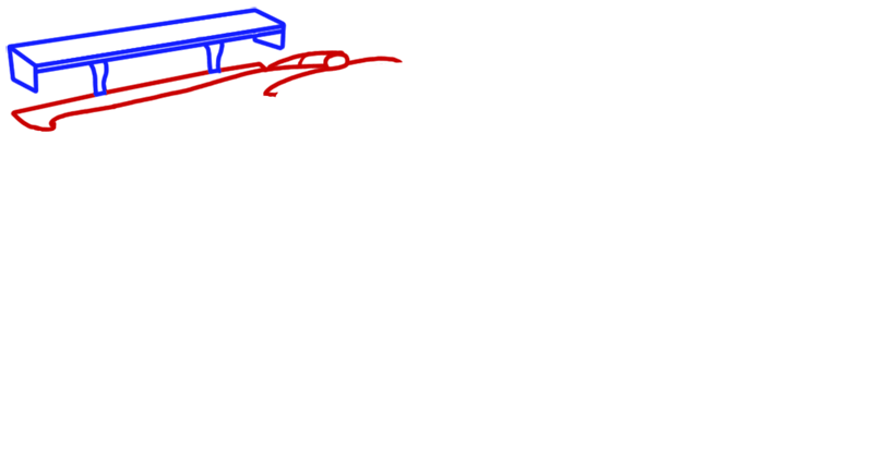Learn easy to draw Maserati MC12 step 02