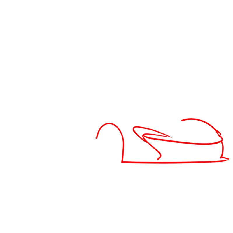 Learn easy to draw McLaren P1 GTR step 01