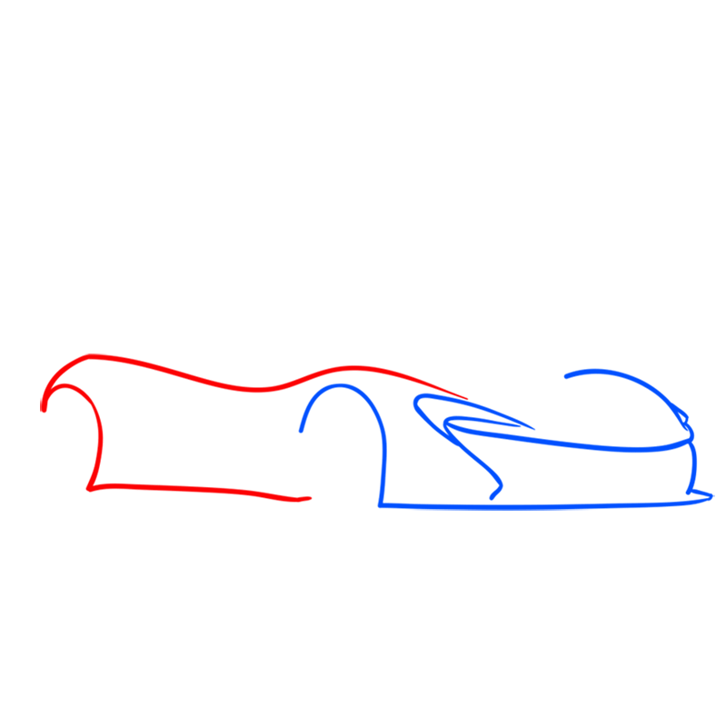 Learn easy to draw McLaren P1 GTR step 02