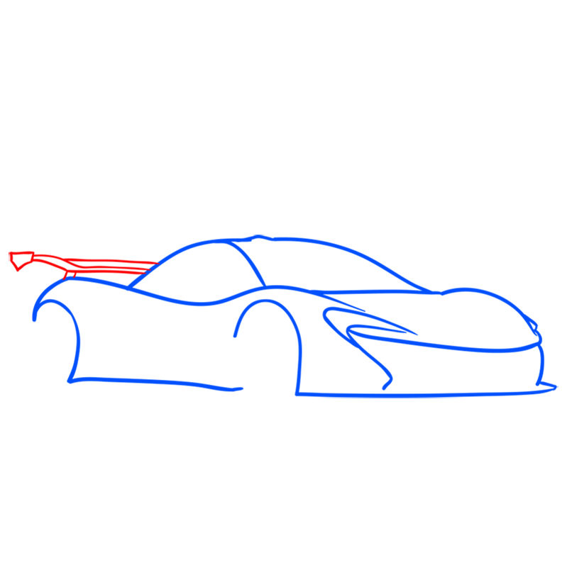 Learn easy to draw McLaren P1 GTR step 04