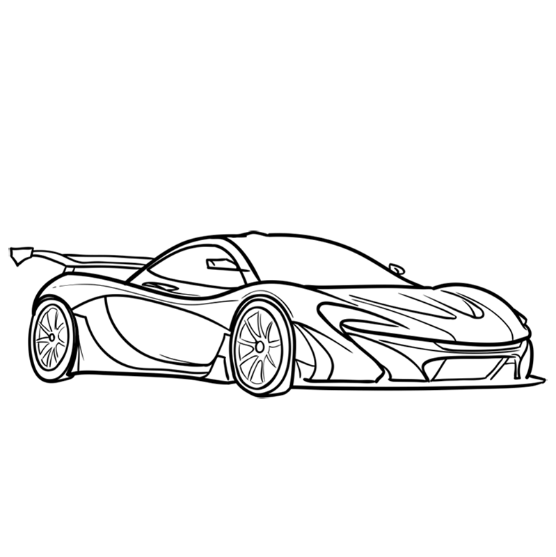 Learn easy to draw McLaren P1 GTR step 09