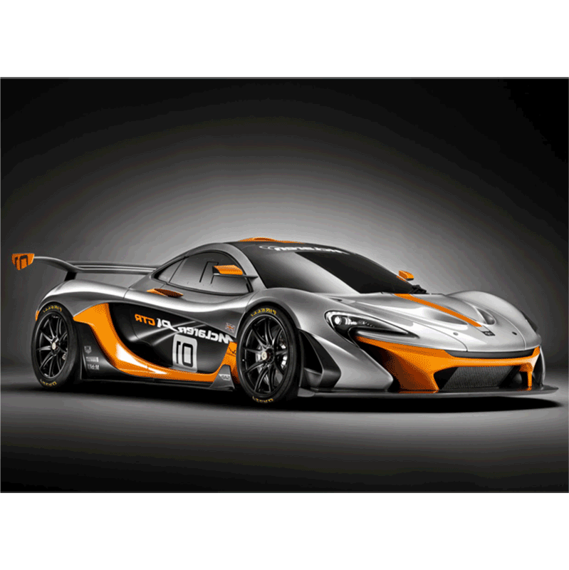 Learn easy to draw McLaren P1 GTR step 10