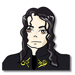 Learn easy to draw Michael Jackson icon