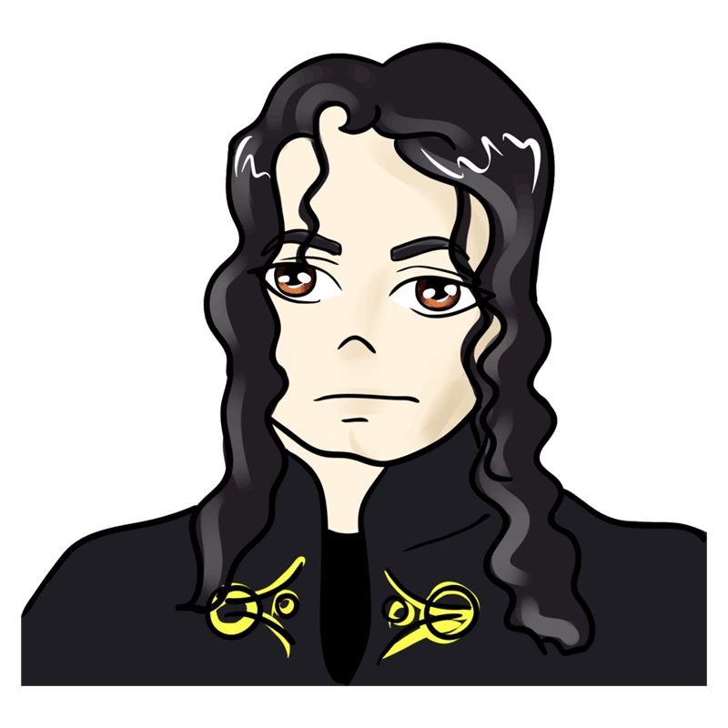 Learn easy to draw Michael Jackson step 00