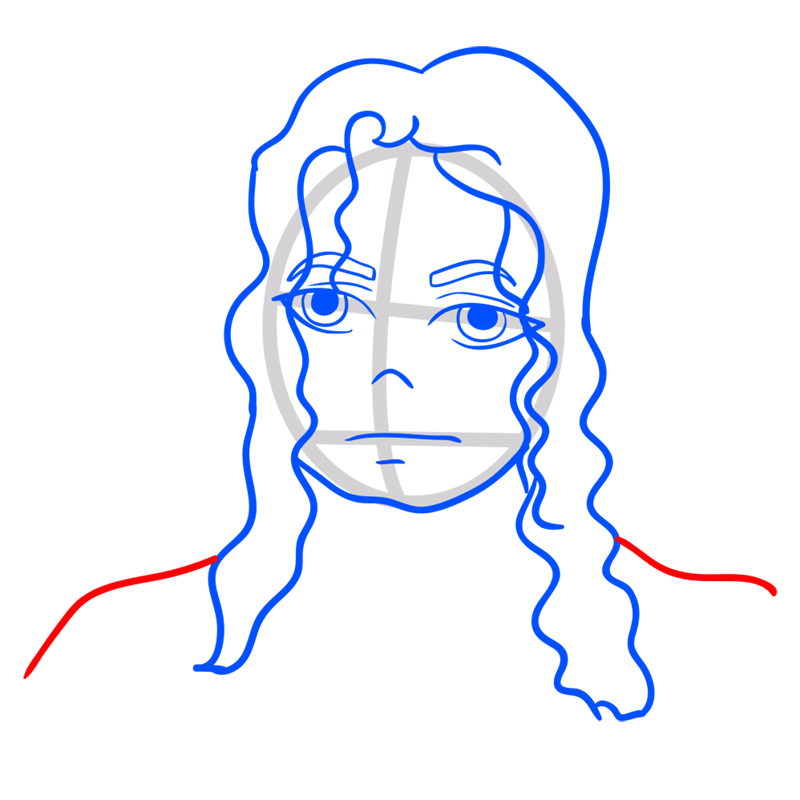 Learn easy to draw Michael Jackson step 07