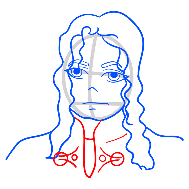 Learn easy to draw Michael Jackson step 08