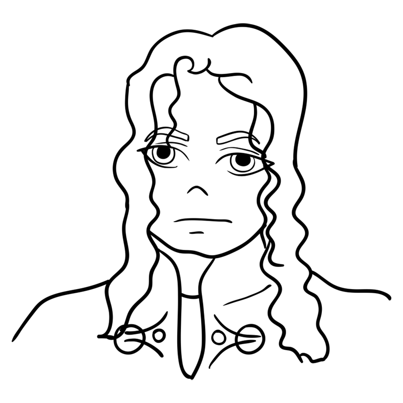 Learn easy to draw Michael Jackson step 09