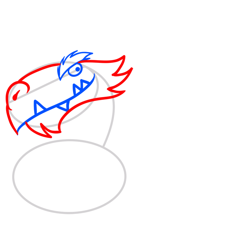 Learn easy to draw Mighty Dragon step 04