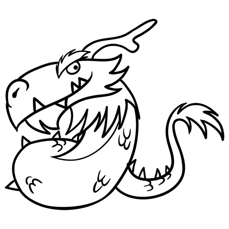 Learn easy to draw Mighty Dragon step 10