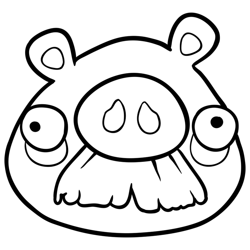 Learn easy to draw Mustache Pig step 07