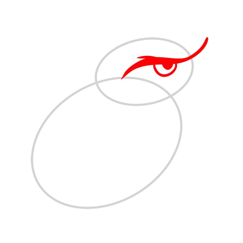 Learn easy to draw Nighty Philadelphia Eagle step 02