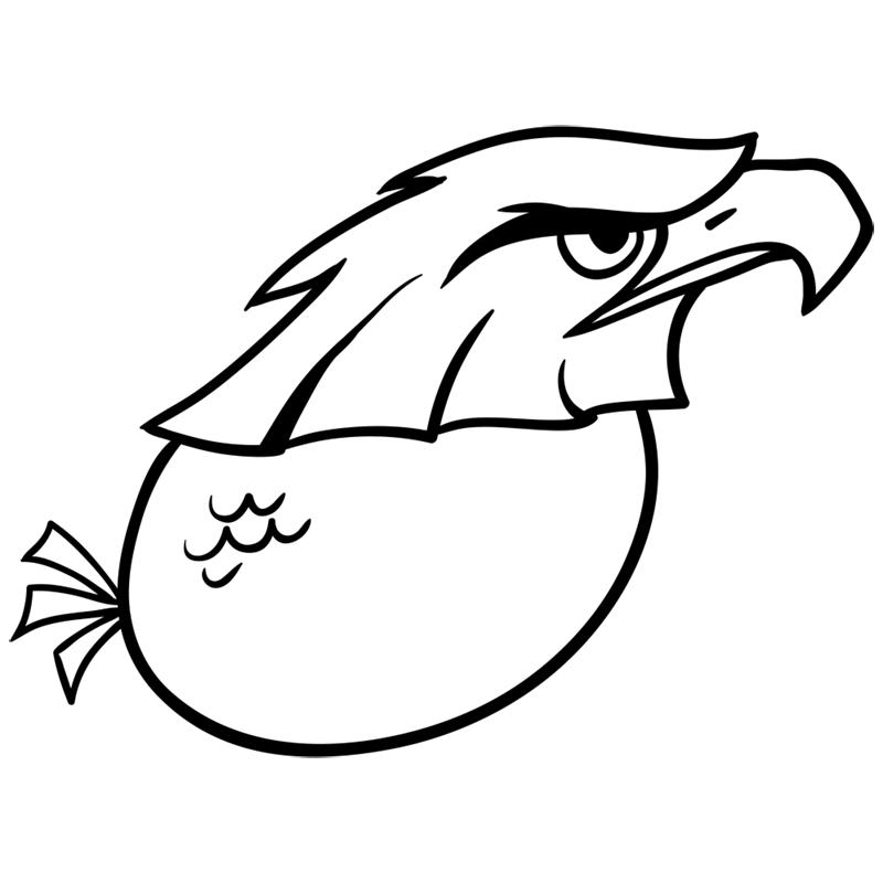 Learn easy to draw Nighty Philadelphia Eagle step 07