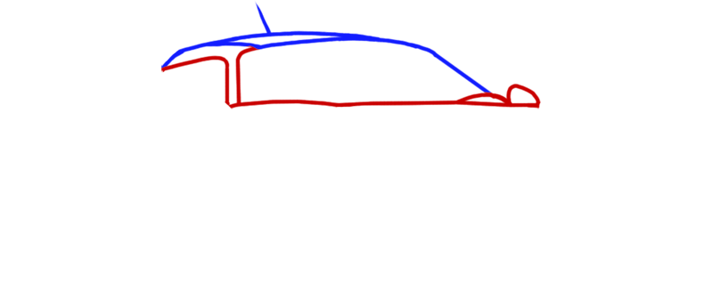 Learn easy to draw Noble M600 step 02