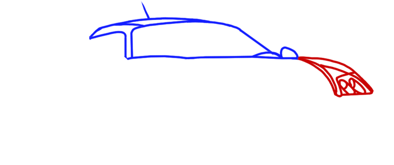 Learn easy to draw Noble M600 step 03