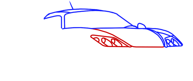 Learn easy to draw Noble M600 step 04
