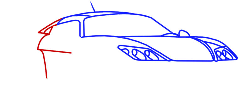 Learn easy to draw Noble M600 step 05