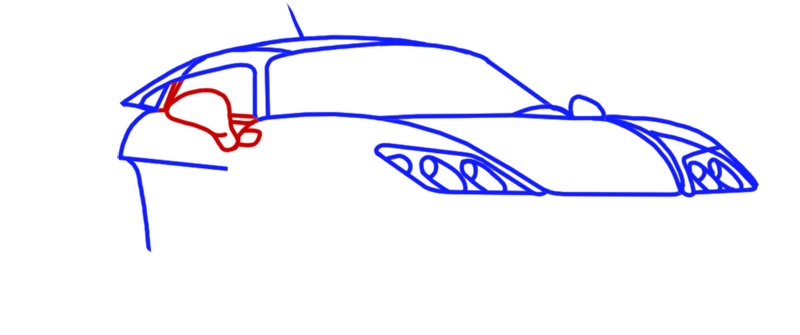 Learn easy to draw Noble M600 step 06