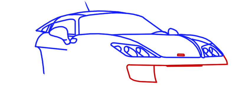Learn easy to draw Noble M600 step 07