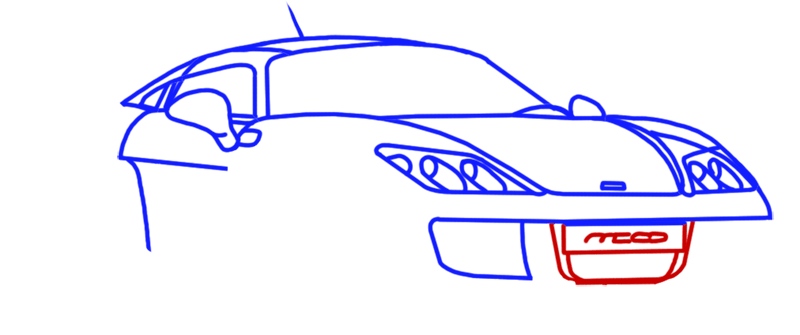 Learn easy to draw Noble M600 step 08